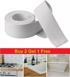 3.2meters Caulk Strip Bathroom Kitchen Sealant Tape Edge Sink Wall White/Grey