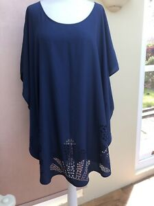 BNWOT FANTASIE NAVY BLUE COVER UP SIZE MED - PERFECT   SEE PHOTOS
