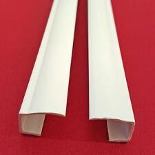 4 Stück Seitenschienen Länge 150 cm für Klemmfix-Rollos Verdunkelung - weiß