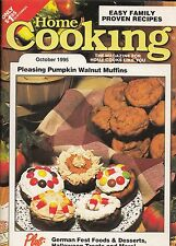 HOME COOKING COOKBOOK MAGAZINE OCTOBER 1995 ISSUE HALLOWEEN, GERMAN FEST FOODS