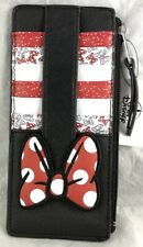 Disney Parks Minnie Mouse Bow Slim Wallet Zip - New