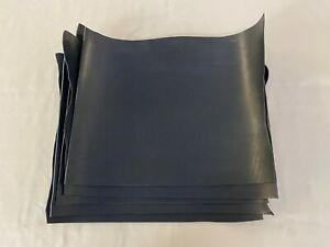 3.5-4mm thick dyed veg tan leather craft - black & irregular shape