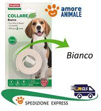 Beaphar Protezione Naturale - Collare colore BIANCO - Antiparassitario cane cani