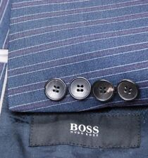 Stunning HUGO BOSS full suit blue stripe recent Johnstons1/Lenon 40R slim fit