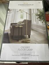 Threshold Crosby Glass Shade Floor Lamp (Brushed Gold)