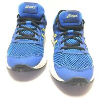 Asics Gel Contend 5 GS Kids Running Shoes Blue Yellow 1014A049 Size 5.5 Us