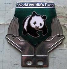 More details for old chrome enamel vintage car mascot badge : wwf world wildlife fund panda (k)