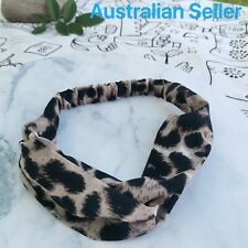 Fashion Leopard Printed Cross Knot Elastic HeadBand- AU SELLER