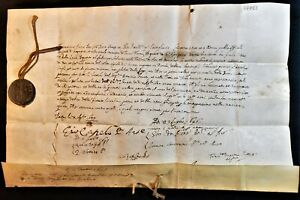 FRANCESCO ERIZZO 98th DOGE OF VENICE BULLA WITH LEAD SEAL 1645 Republik Venedig