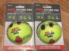 "Lot of 2 Espn Future Pro Softball Size 11"""