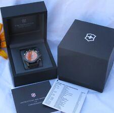 Victorinox Swiss Army Dive Master 500 Chronograph Watch Orange Dial Black Band