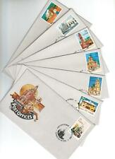 Australia 1982 Historic Post Offices Set Seven First Day Covers