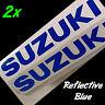 Suzuki REFLECTIVE Blue Size 18 x 2.5 set decals gsxr 2002 srad gsx 750 1000 side
