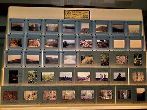 Kodak Slide Carousel '71 Slides Fall Creek Falls/Roan Mtn, Tn/Mammoth Cave/Cane