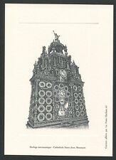 FRANCE EPREUVE DE LUXE HORLOGE ASTRONOMIQUE CATHEDRALE BESANCON LUXUSBLOCK z1379