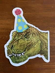 T Rex Sticker Birthday Hat Ultra HD - Buy any 4 for $1.75 Each Storewide!