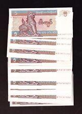 Myanmar 5 Kyat P-70  1996-97  UNC    x 100