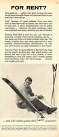 1963 Vintage Head Snow Ski's  PRINT AD