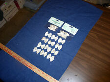 """18 Ivory(Eggshell)  Ribbon Bows w/Pearl-1.75""""(4.4cm)for Applique by Wang's Int""""l"""
