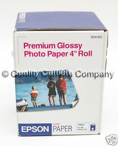 "Epson Premium Glossy Photo Paper 4"" Roll #S041302 **NOS**"