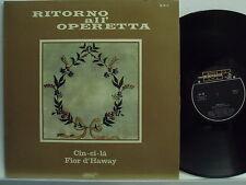 RITORNO ALL'OPERETTA disco LP CESARE GALLINO Meazzi RO 1 Cin ci la FIOR D'HAWAY