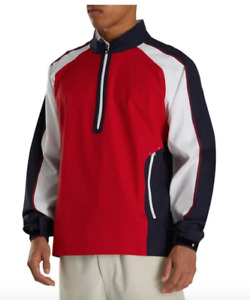 Footjoy Red/White/Navy Sport Patriot Windshirt Golf Outerwear MSRP $88 (50% OFF)