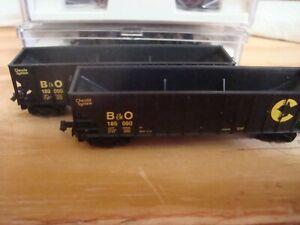 N Scale 2 Atlas 90 ton coal cars Chessie System B & O # 189090