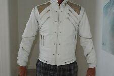 RARE White Original J Park Leather Michael Jackson BEAT IT Jacket