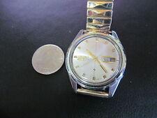 Seiko Automatic Day/Date 21 Jewel Men Wristwatch Watch White/Goldtone 6119-8083
