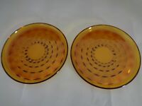 Set of Two Amber Luncheon Plates Whitehall (Imperfect) (Cat.#13C012)
