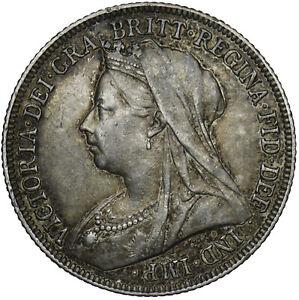 1894 SHILLING - VICTORIA BRITISH SILVER COIN - NICE