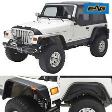 97-06 Jeep Wrangler TJ Front+Rear Fender Flares With LED Side Rocker Guard