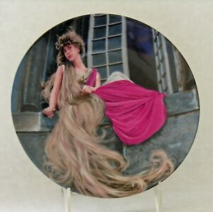 Vintage Rapunzel LE Collector Plate Brothers Grimm 200th Birthday 1981 Bavaria