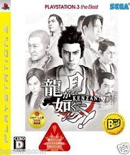 Used PS3 Ryu ga Gotoku Kenzan ! SONY PLAYSTATION 3 JAPAN JAPANESE IMPORT