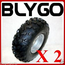 "2X 19x7- 8"" inch Front Wheel Rim+ Tyre Tire 150cc 200cc Quad Dirt Bike ATV Buggy"