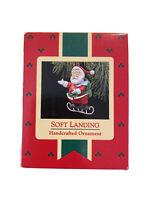 "VINTAGE Hallmark 1988 ""Soft Landing"" Ornament Santa Ice Skating BRAND NEW IN BOX"
