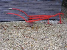Vintage Horse drawn cultivator / hoe / plough. 8 foot long, 26 inches wide
