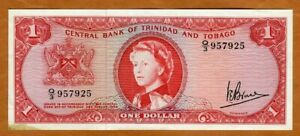 Trinidad and Tobago, 1 dollar, 1964, P-26c, QEII, aUNC