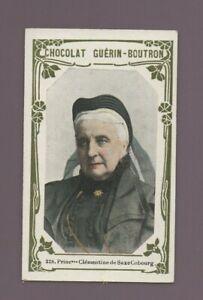 Kitschbild Schokolade Guérin Boutron - Prinzessin Clementine von Sachsen Coburg