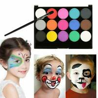 Face Body Paints Kit 15 color Make Up Painting Palette Professional Safe To Use