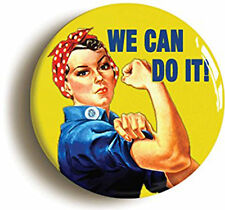 "WE CAN DO IT - CLASSIC WWII POSTER - 25mm / 1"" METAL BUTTON BADGE"