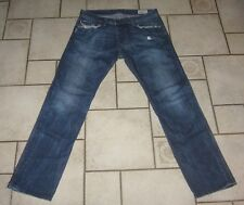 DIESEL Jeans Hose DARRON Regular SLIM TAPERED  blau USED W33L32 W33 Made i Italy