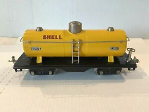 *1930* LIONEL PREWAR TRAIN -NO. 515 SHELL OIL 3-DOME TANK CAR- STANDARD GAUGE VG