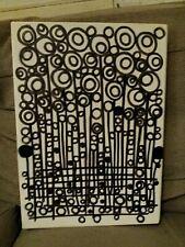 "HAND DRAWN FLORAL ARTWORK STUDY ON CANVAS.  14"" X 10""."