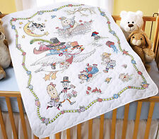Cross Stitch Kit ~ Mary Engelbreit Mother Goose Crib Cover / Baby Quilt #45359