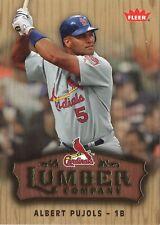2006 Fleer Lumber Company #LC-2 Albert Pujols St. Louis Cardinals Baseball Card