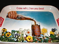 "COCA-COLA 1961 ORIGINAL ""COKE REFRESHES YOU BEST"" METAL TRAY"