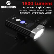 LED 1800LM USB Rechargeable Bicycle Head Front Light 5200mAh Handlebar RockBros