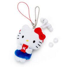Hello Kitty Sanrio Mascot Earphone with Reel Chain Holder Japan Kawaii Free Ship