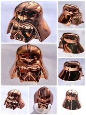 LEGO DARTH VADER HELMET CHROME COPPER GENUINE CUSTOM HIGHEST QUALITY MONOCHROME